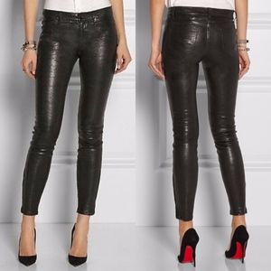 J BRAND Ankle Zip Leather Pants